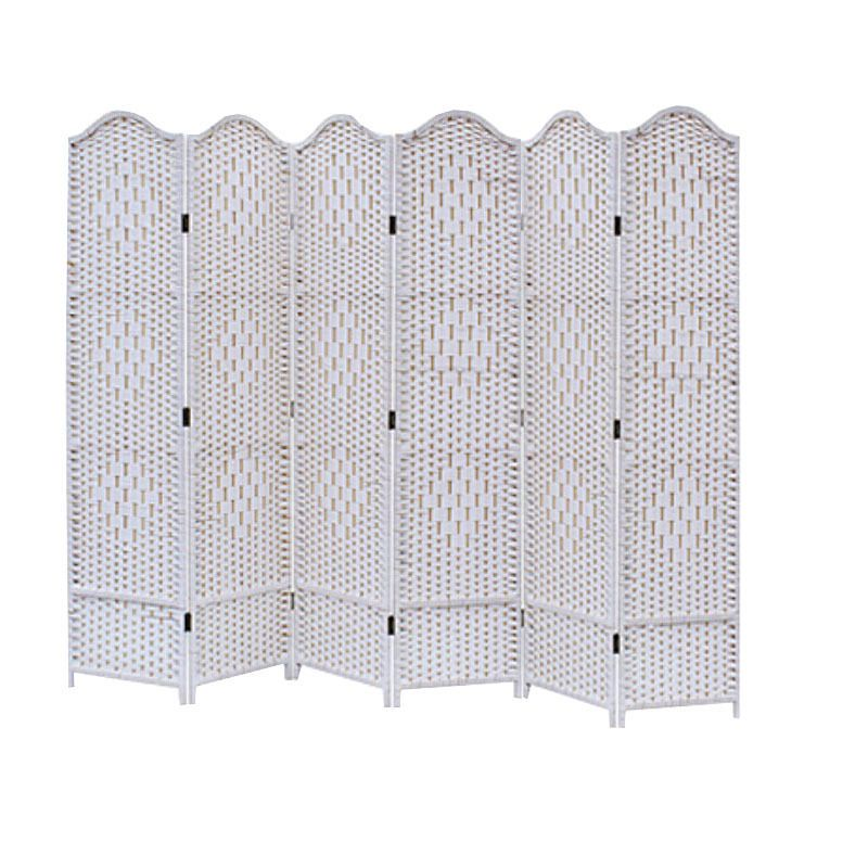 6 Panel White Screen/Room Divider Classical | Room Divider Screen