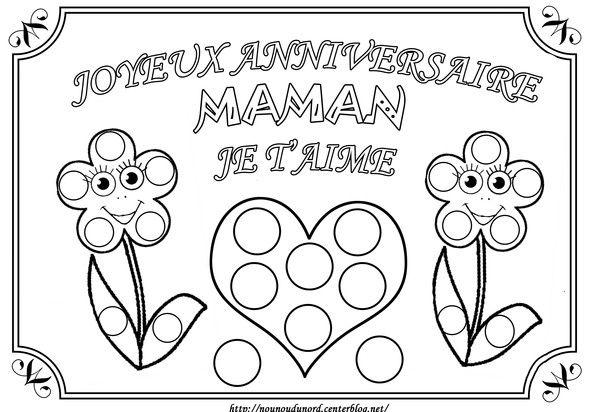 Coloriage Joyeux Anniversaire Maman Je T Aime A Gommette Joyeux Anniversaire Maman Bon Anniversaire Maman Anniversaire Maman