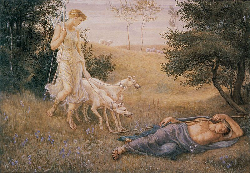 Diana and Endymion - Walter Crane - 1883