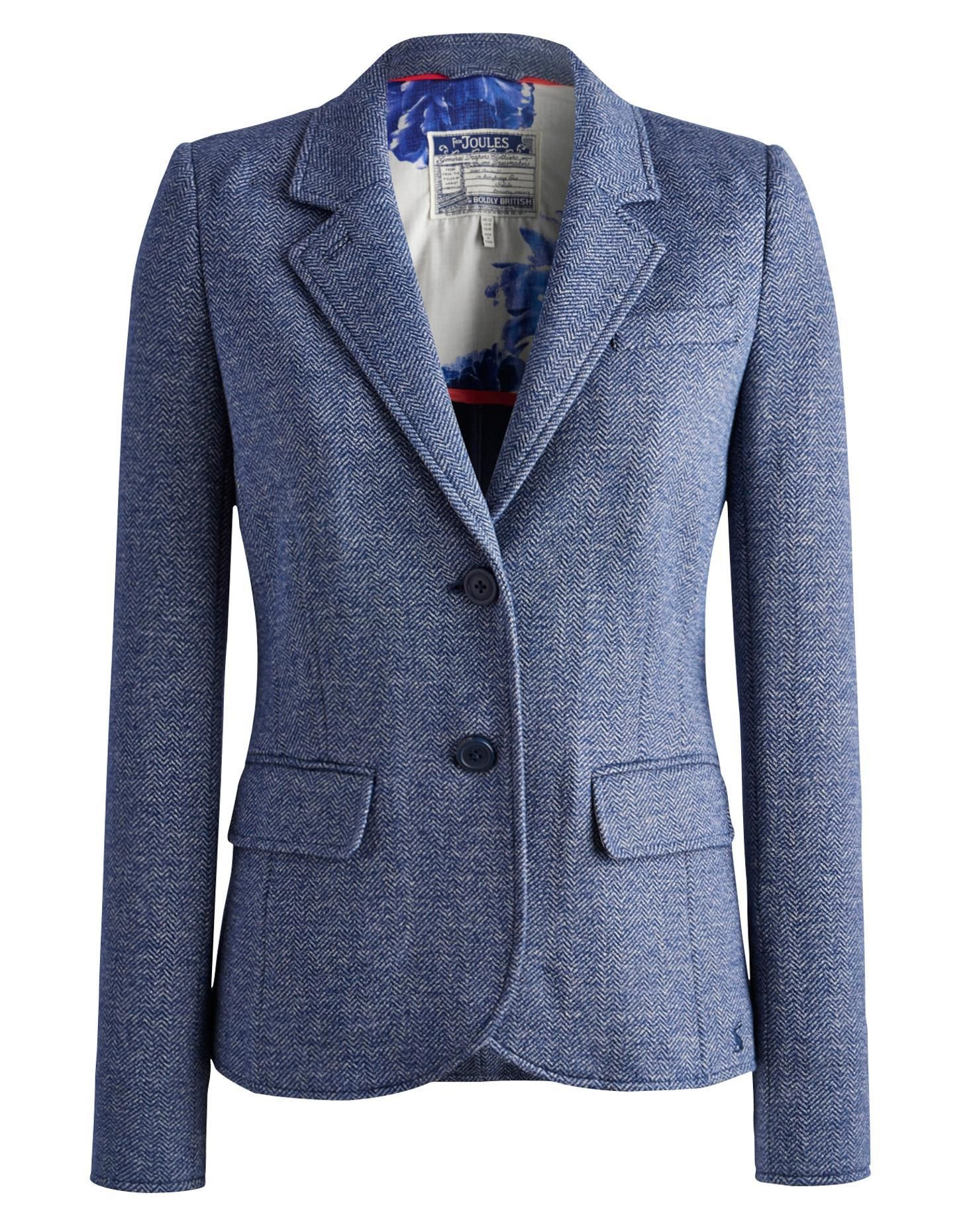 HENFORD Womens Jersey Tweed Blazer | Coats, Jackets & Blazers ...
