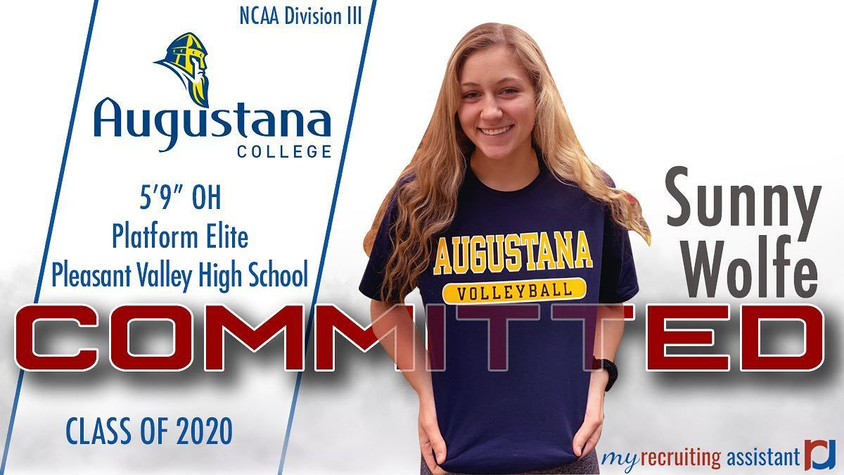 Congratulations To 2020 Oh Sunny Wolfe On Her Commitment To Augustana College In 2020 Augustana College Augustana Class Of 2020