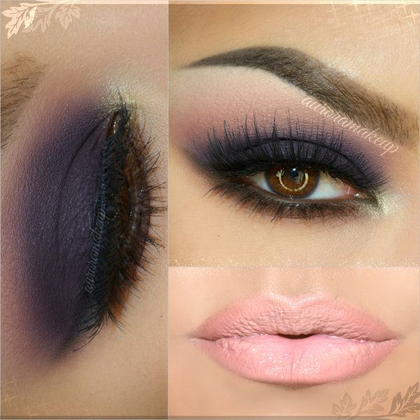 Smokey morado maquillaje Pinterest Maquillaje, Ojos y