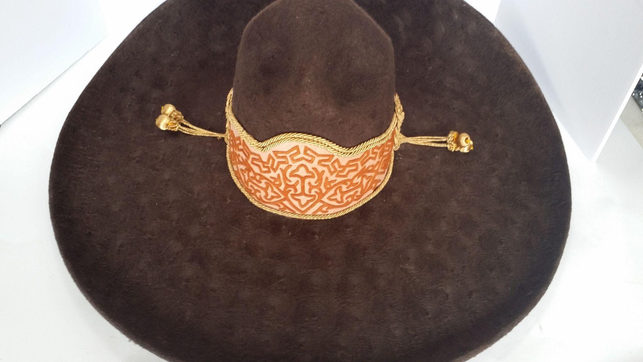 7da987f2ec4d5 Sombrero Charro de Lana. Color Beich Charro Hats 58 mex 7-1 4 ...