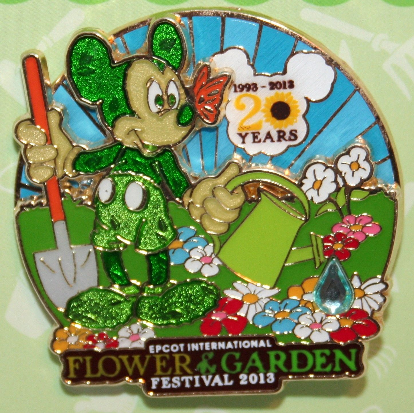 2013 Epcot Flower & Garden Festival Mickey Mouse Disney Pin...I know
