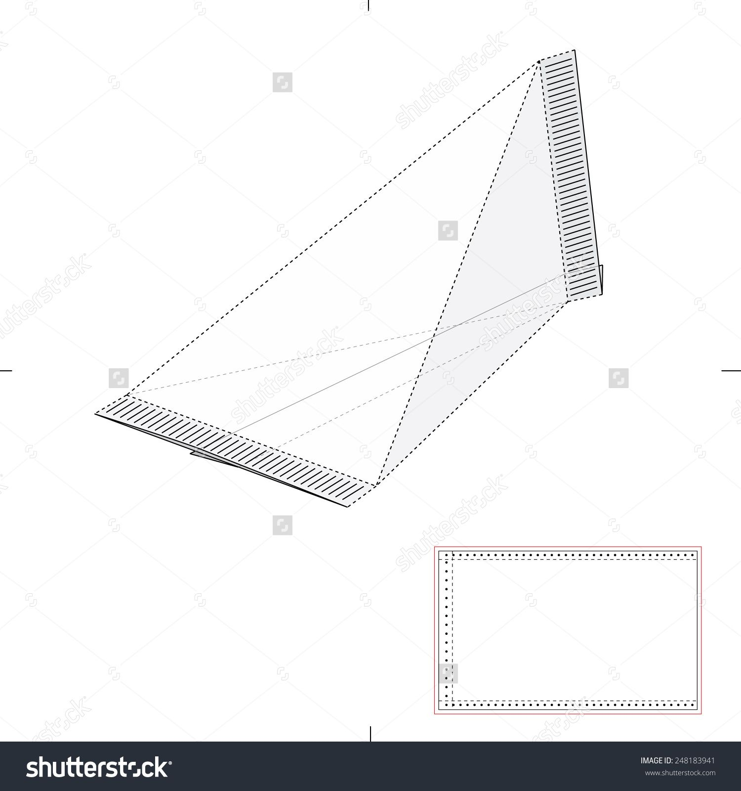 Tetrahedron Box For Liquids With Die Cut Template Stock Vector ...