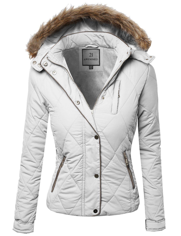 Fine Quality Padded Detachable Hood Jacket Fur lining