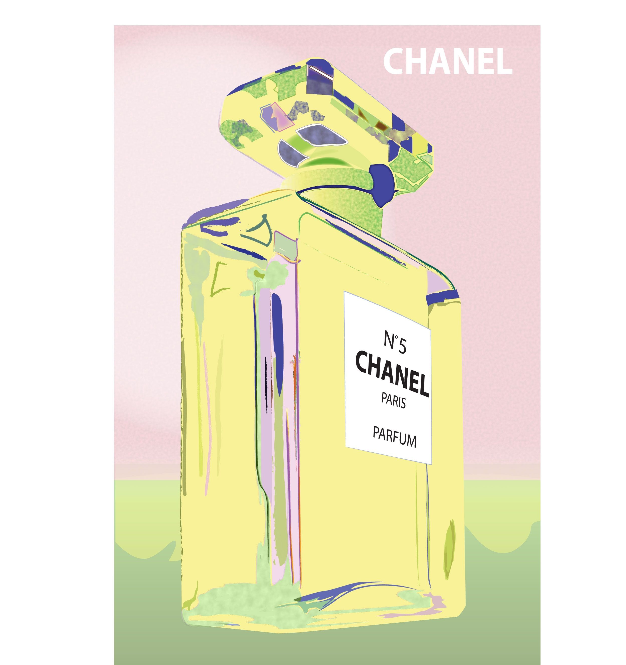 Chanel bottle print in pink & green | My Style | Pinterest | Sky ...