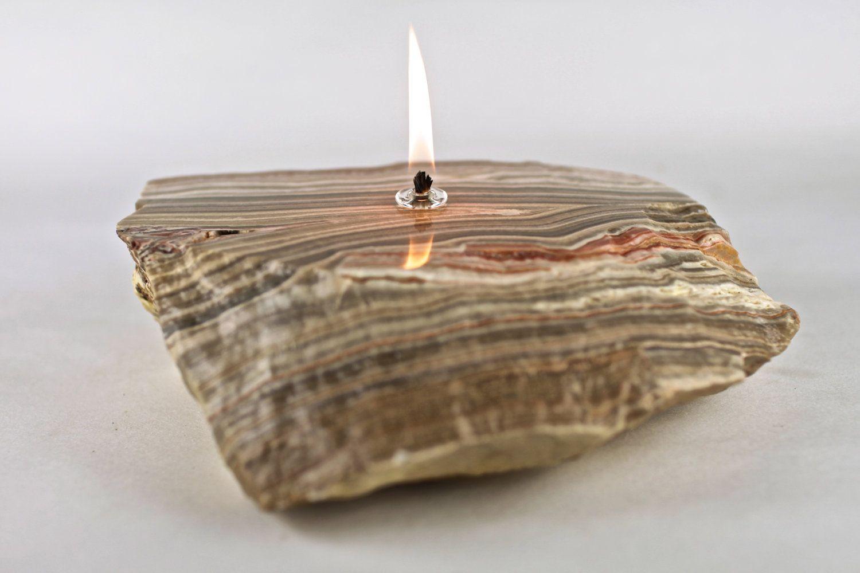 Diy stone oil lamp oil lamps diy lamp diy inspiration