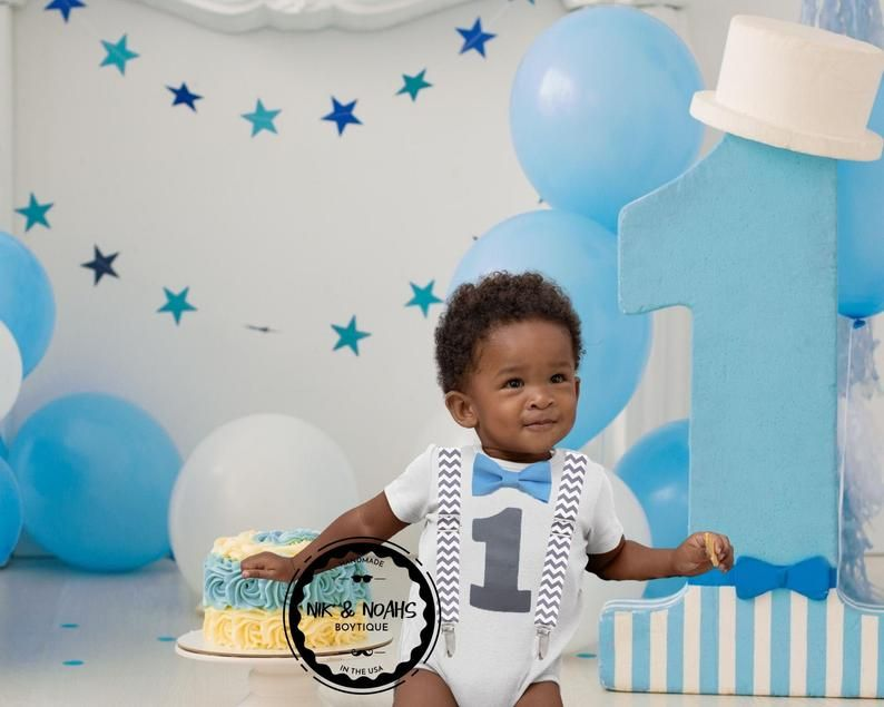 Blue Birthday Hat Tie Bow tie Diaper cover Blue first birthday set Onederland boys cake smash outfit Blue 1st birthday outfit