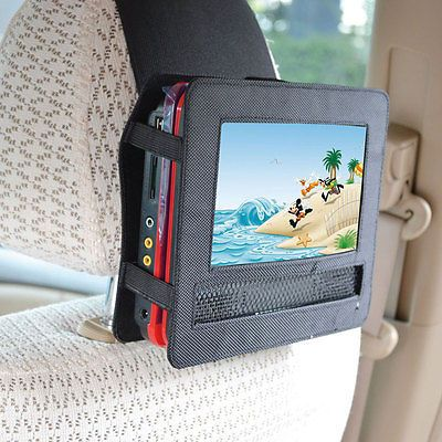 car headrest mount for 9normal portable dvd player strap case aupost shipping