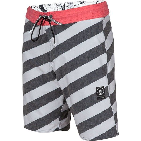 b5338f9d9a Volcom Men's Stripey Slinger Boardshorts ($55) ❤ liked on Polyvore  featuring men's fashion,