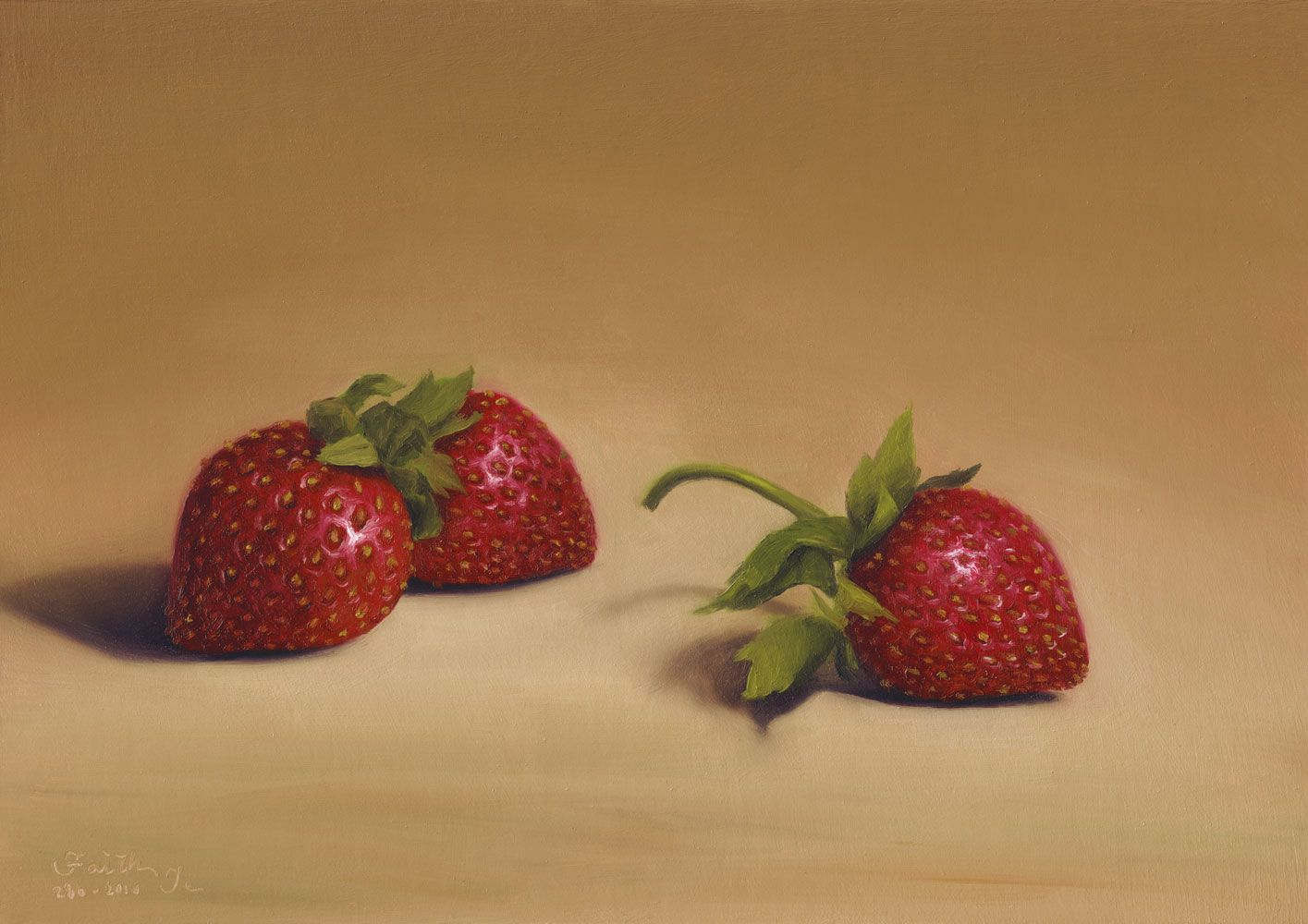 paintings   Strawberries Oil Painting by Faith Te   Available Paintings