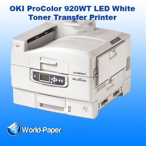 e3e5e442 Top Of The Line OKI ProColor 920WT LED White Toner Transfer Printer For  transfer professionals in the high–quality short–run marketplace, ...