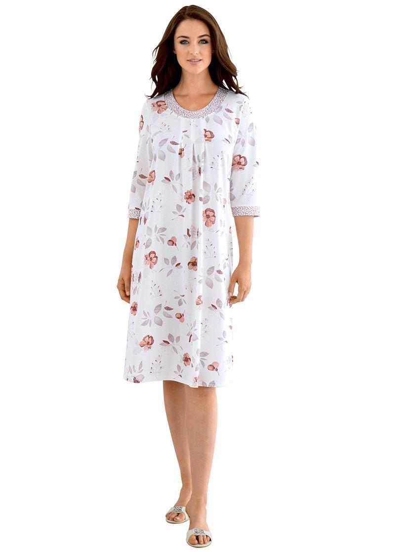 Arabella Nachthemd in weiß-bedruckt  Nachthemd, Kleider, Hemd