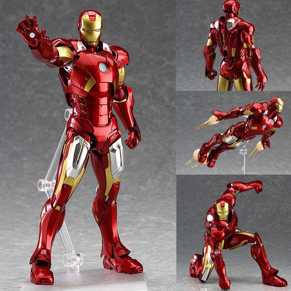 Figma 217 Iron Man Mark 7 The Avengers Anime Figure Max