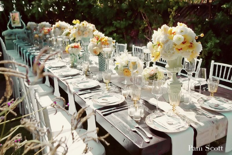 Images Of Beautiful Vintage Style Party Tables