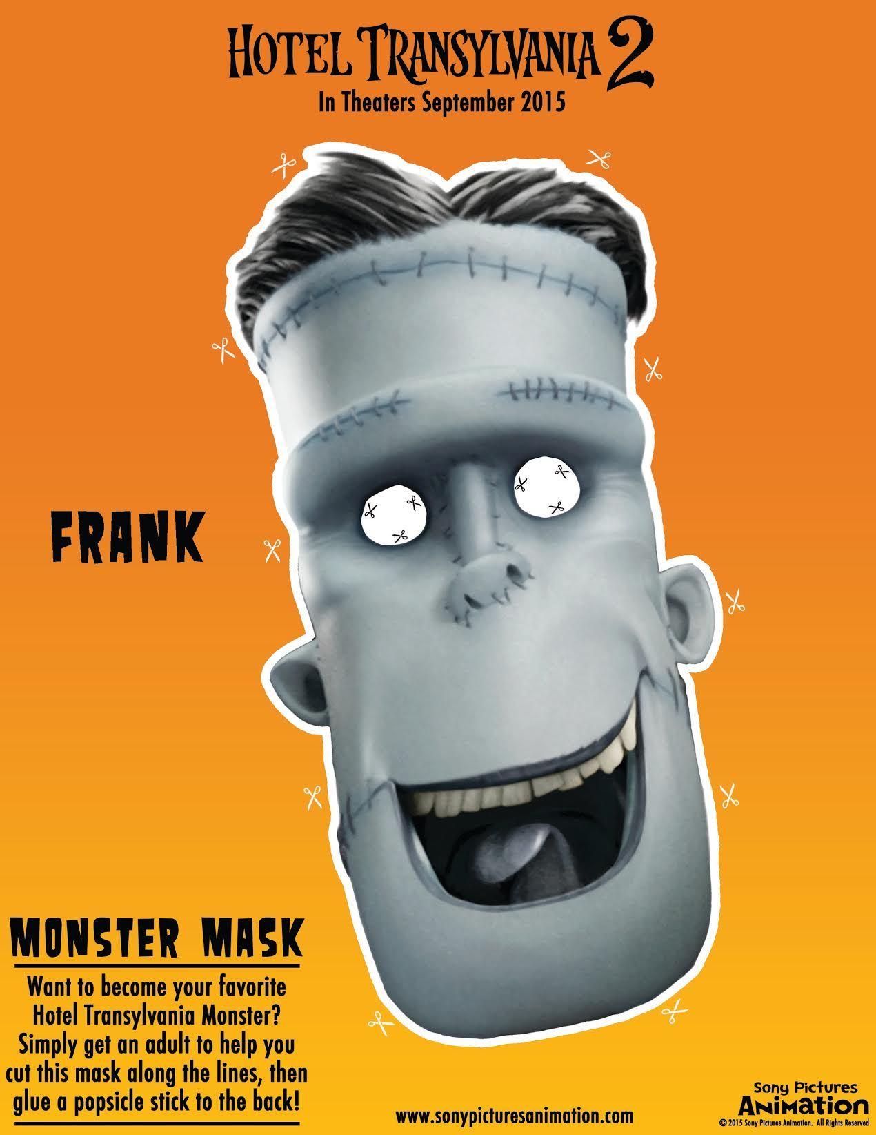 Hotel Transylvania 2 Frank Mask Jpg 1 270 1 644 Pixeles With