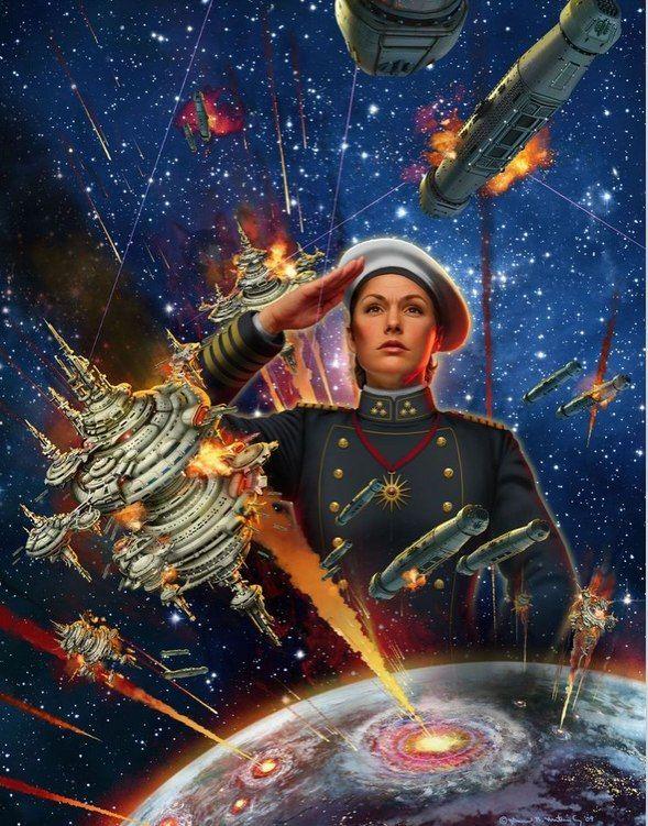 DAVID BURROUGHS MATTINGLY - art for Mission of Honor (Harrington 12) by David Weber - 2010 Baen Books