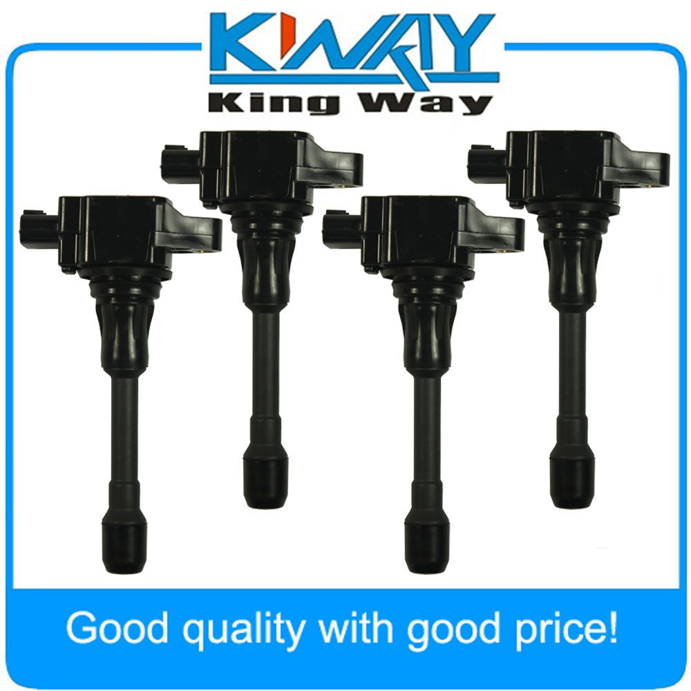 SET OF 4 Ignition Coil Fit For Nissan Altima Sentra Cube