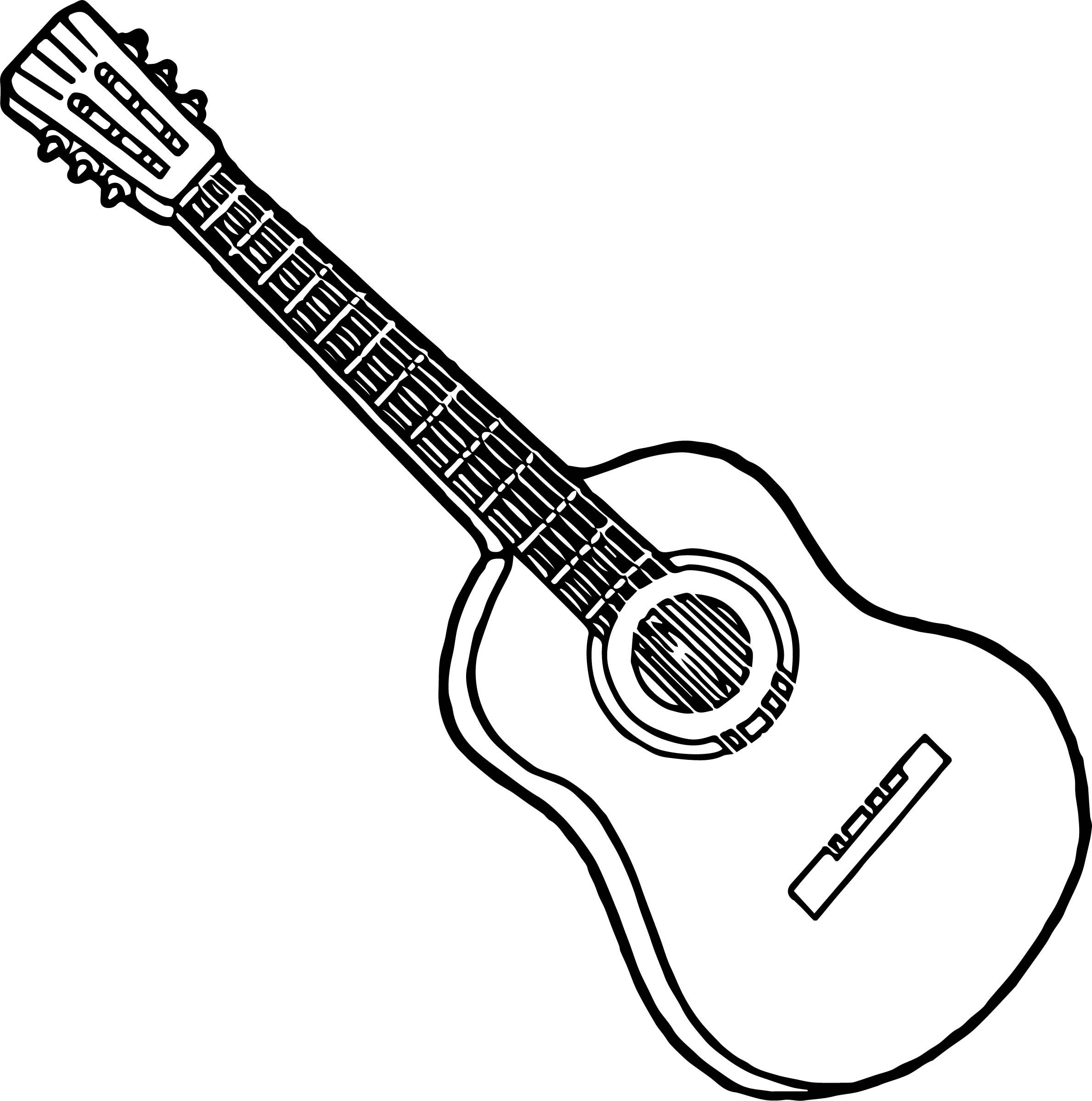 Surprising Guitar Coloring Page Coloring Pages Online Coloring Pages Coloring Sheets For Kids