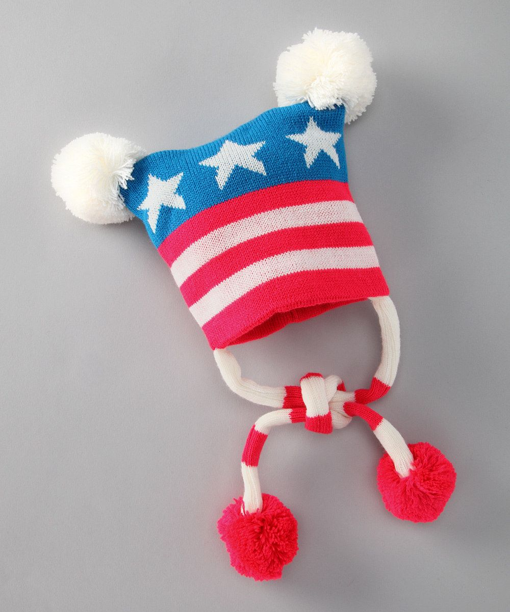 This could also be Captain America... USA Earflap Hat on #zulily