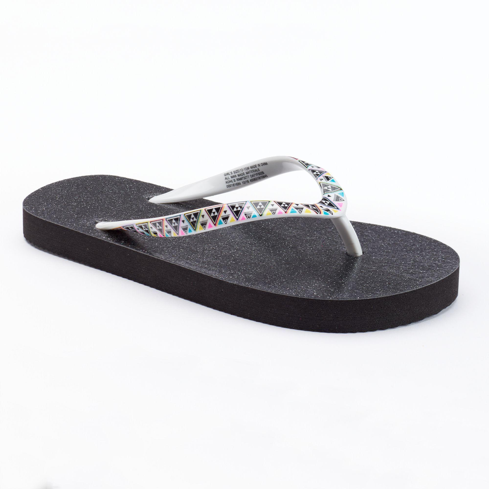 e1ab230d22ad3 Girls 4-16 SO® Glitter Flip Flops