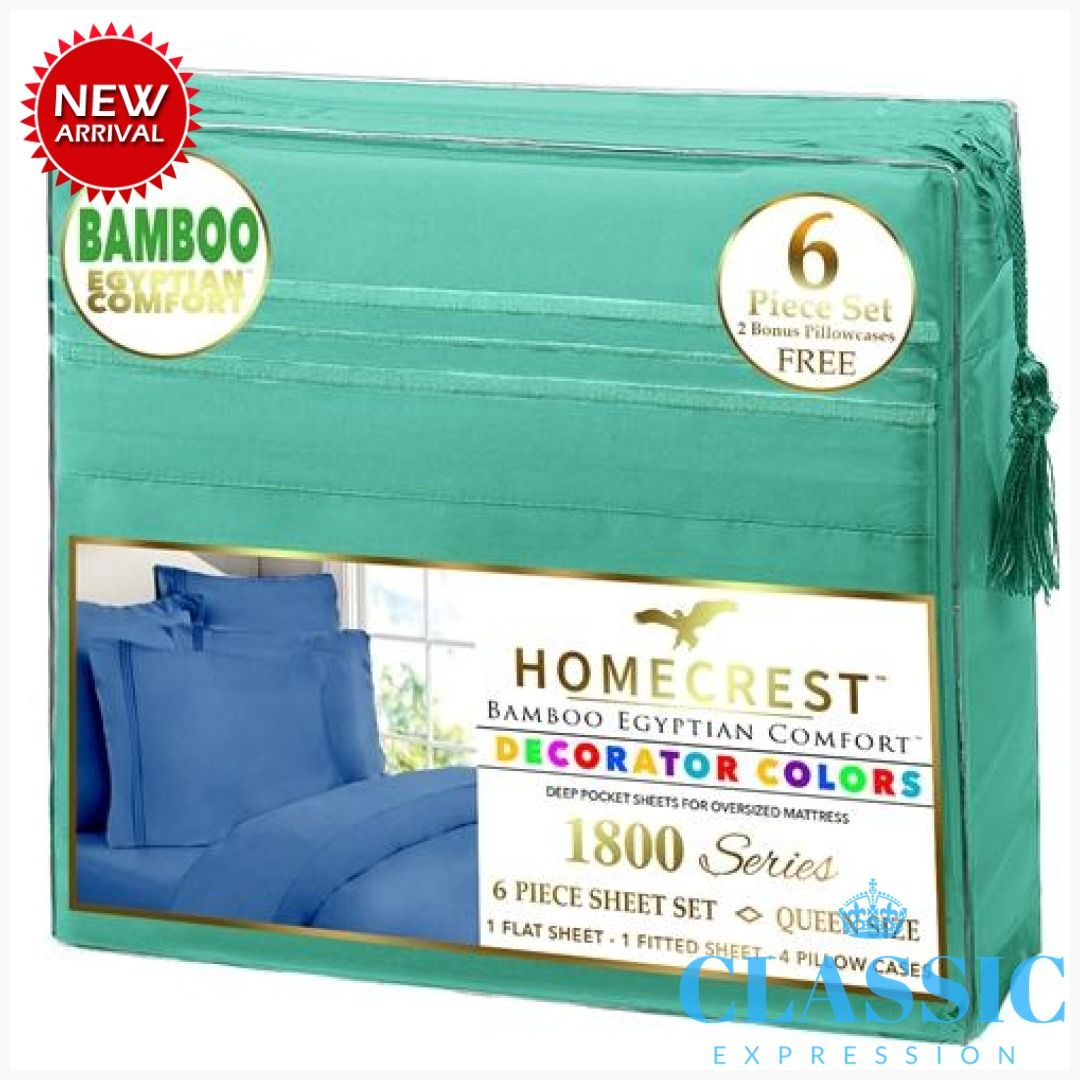 Homecrest Bamboo Egyptian Comfort 1800 Series Green In 2020 With