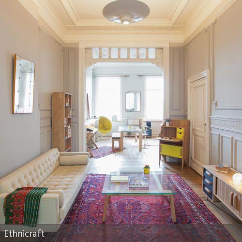 Orientalischer Teppich im Wohnzimmer - teppich wohnzimmer bunt