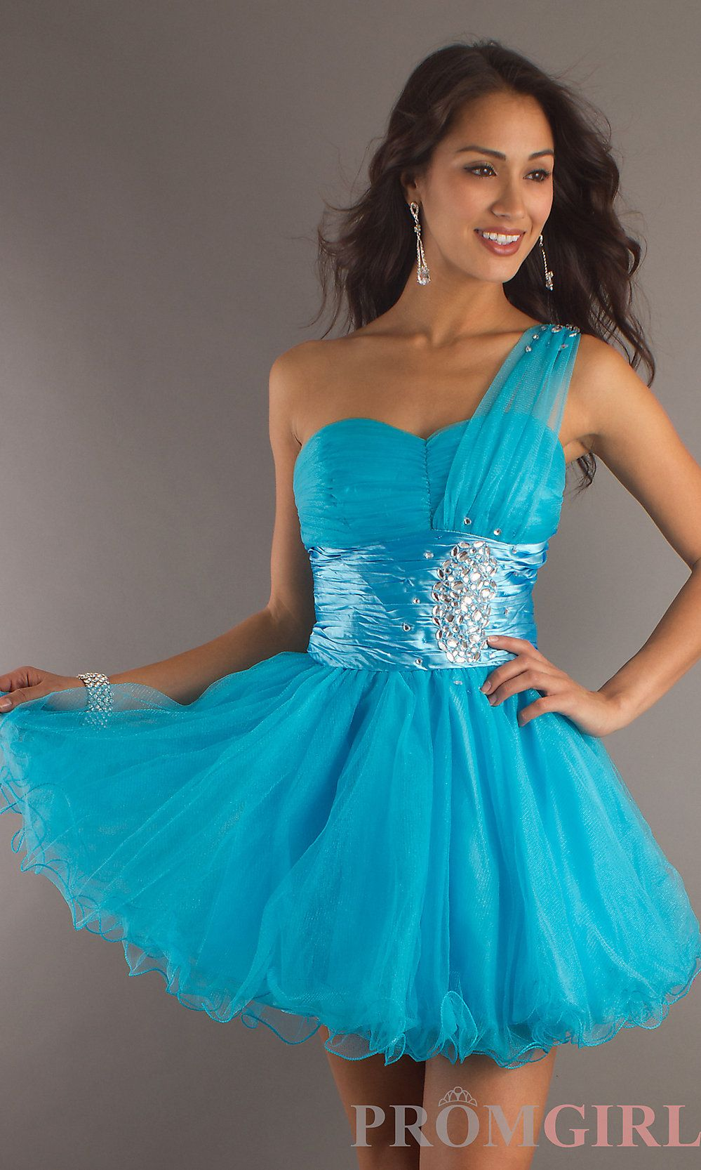 One Shoulder Party Dress for Homecoming, Sweet 16 Dress- PromGirl ...