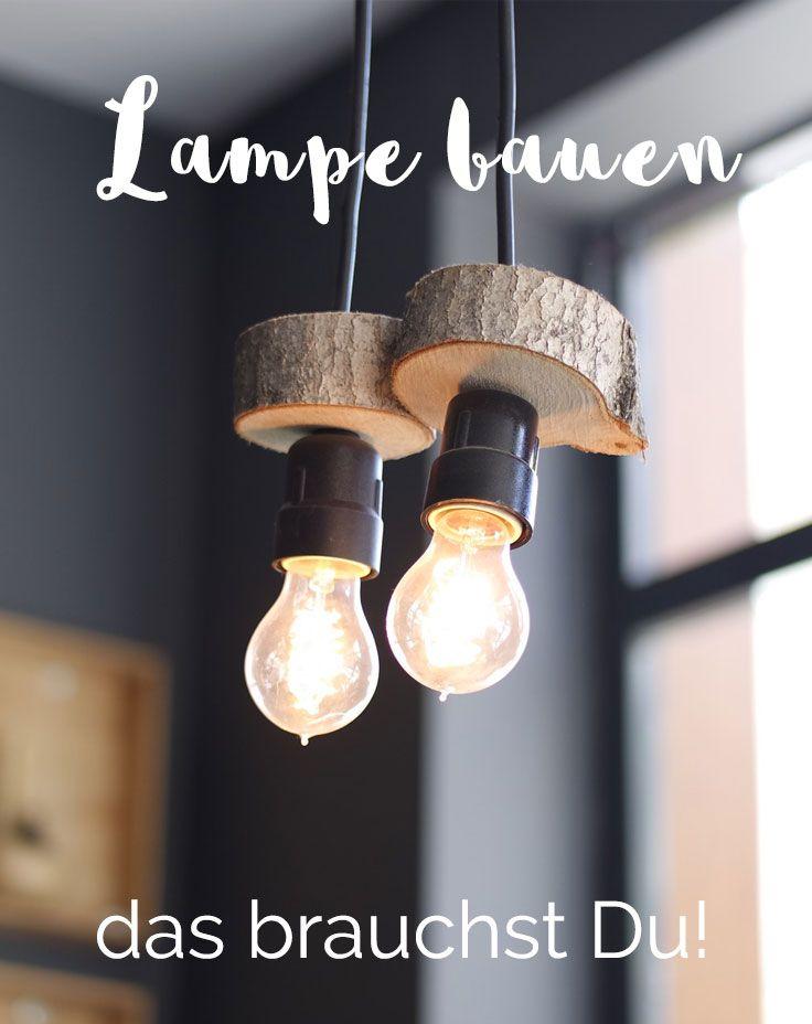 Eine Lampe selbst bauen Lampenfassung, Kabel und Zubehör