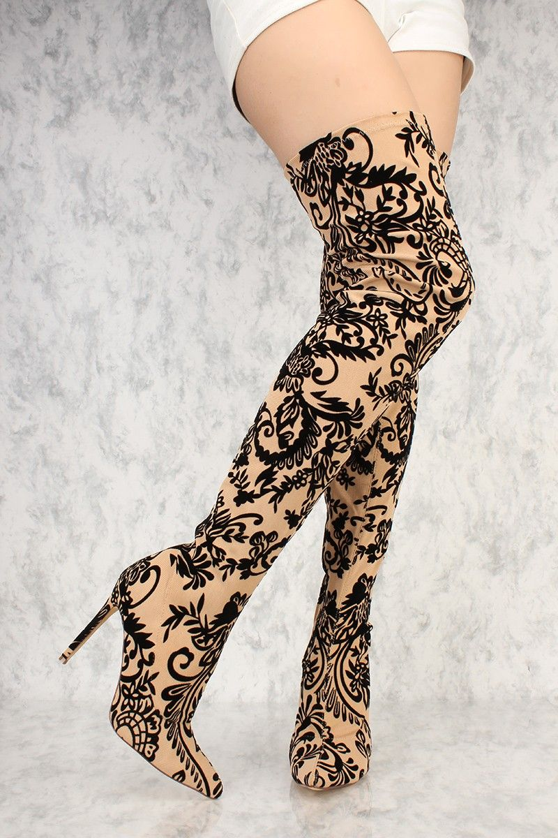 bbc3f065dc25 Elegant Vines printed in your thighs  Now these are a must have! Featuring