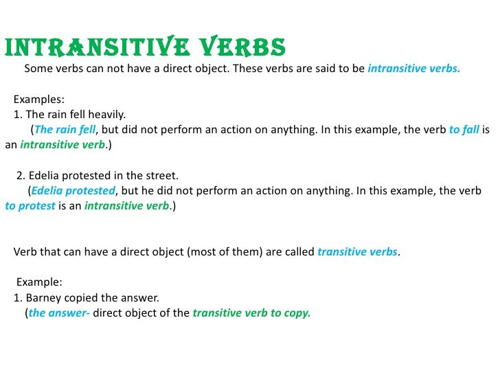 Transitive Verbs Examples Images Example Cover Letter For Resume