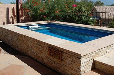 deck swimming pools above ground lap pools