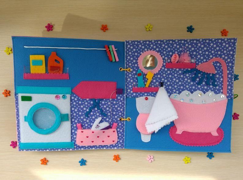 Photo of Casa de muñecas de libro tranquilo, casa de muñecas, muñeca no de papel, libro ocupado, libro de fieltro, libro de actividades, libro tranquilo de Navidad, regalo de Navidad, libro para niños pequeños