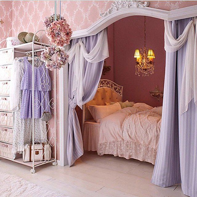 32 Dreamy Bedroom Designs For Your Little Princess: Head To, Black And Blue And Little Princess