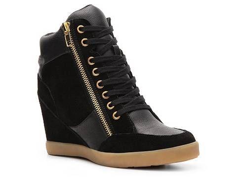 Wedge Sneaker | Black wedge sneakers