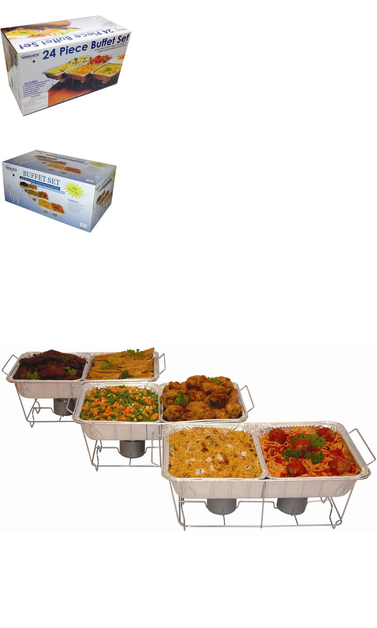 Chafing dishes and warming trays 27552 new 24 piece food