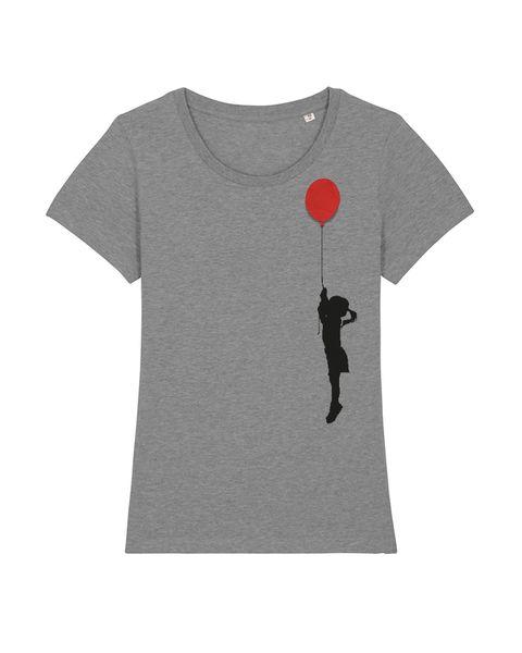 wat? Apparel Mädchen Mit Luftballon Broschenshirt Damen