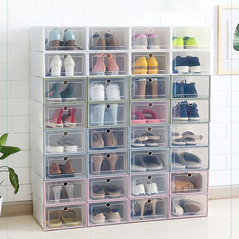 Transparent Drawer Shoes Case Stackable Sundries Box Shoe Rack Storage Organizer In 2020 Plastic Box Storage Shoe Storage Shoe Box Diy