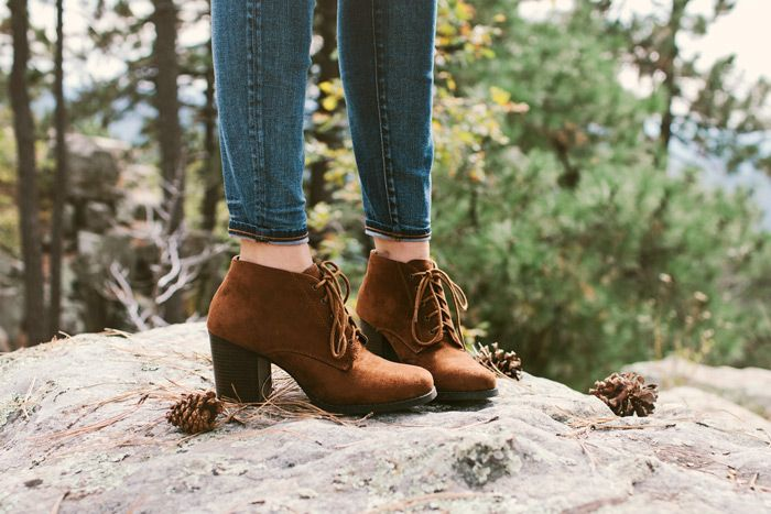 Kick-ass lace-up booties for fall