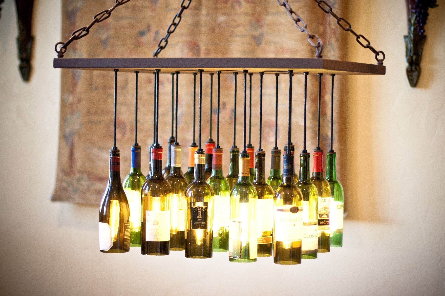 Awesome Unique Bottle Chandelier 83 On Small Home Decor Inspiration With