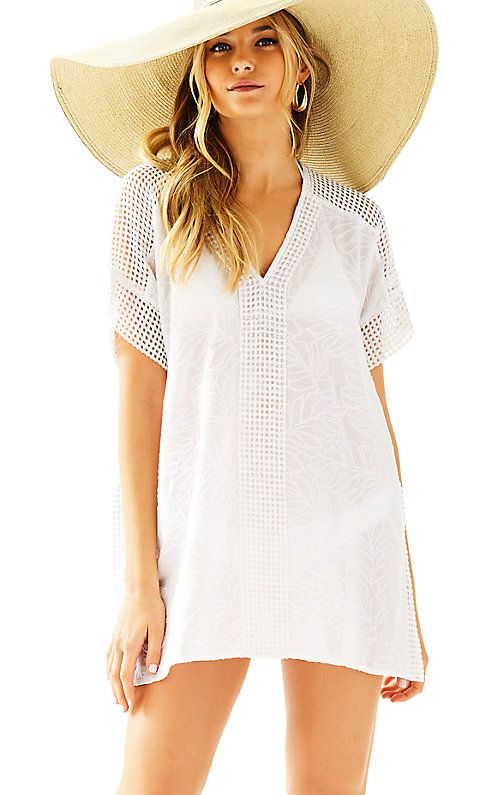 b6c18d1a1a 24743 - Sydney Cover-Up White Kaftan, White Cover Up, Sun Protective  Clothing