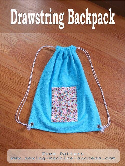 Beach bag, gym bag - anything bag. Cute drawstring backpack. Free ...