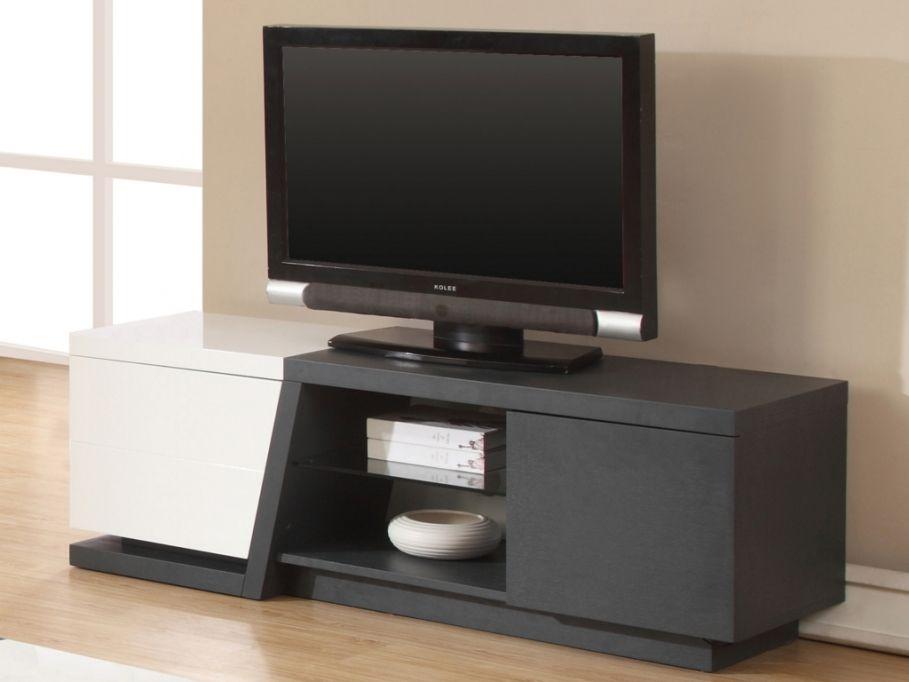 meuble tv privilege avec leds en mdf gris finition laque blanc prix promo vente unique 29999 - Meuble Tv Blanc Vente Unique