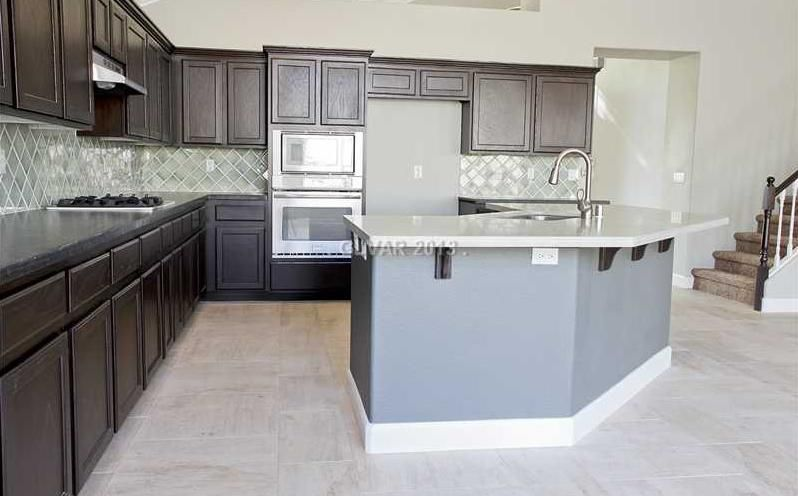 Kitchen Backsplash Las Vegas flipping vegas kitchens | kitchen 2 colors of custom granite, tile