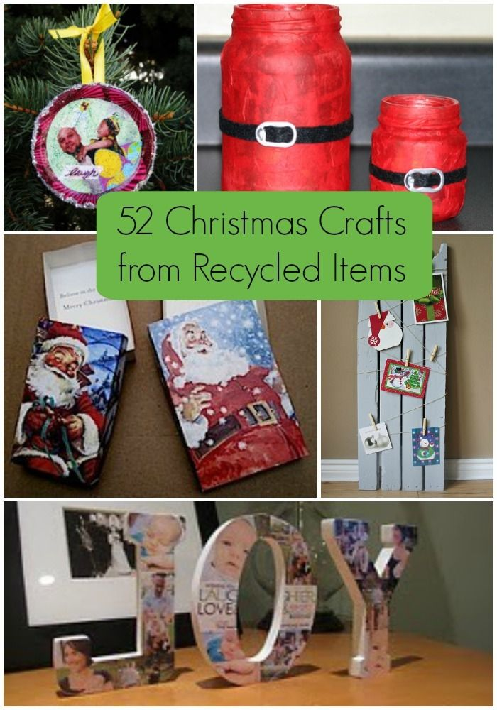 60 Christmas Crafts From Recycled Items Crafts Christmas Crafts