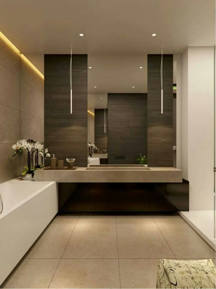 Pin by silvia valldeperas on ba os pinterest interiors for Modern guest bathroom ideas