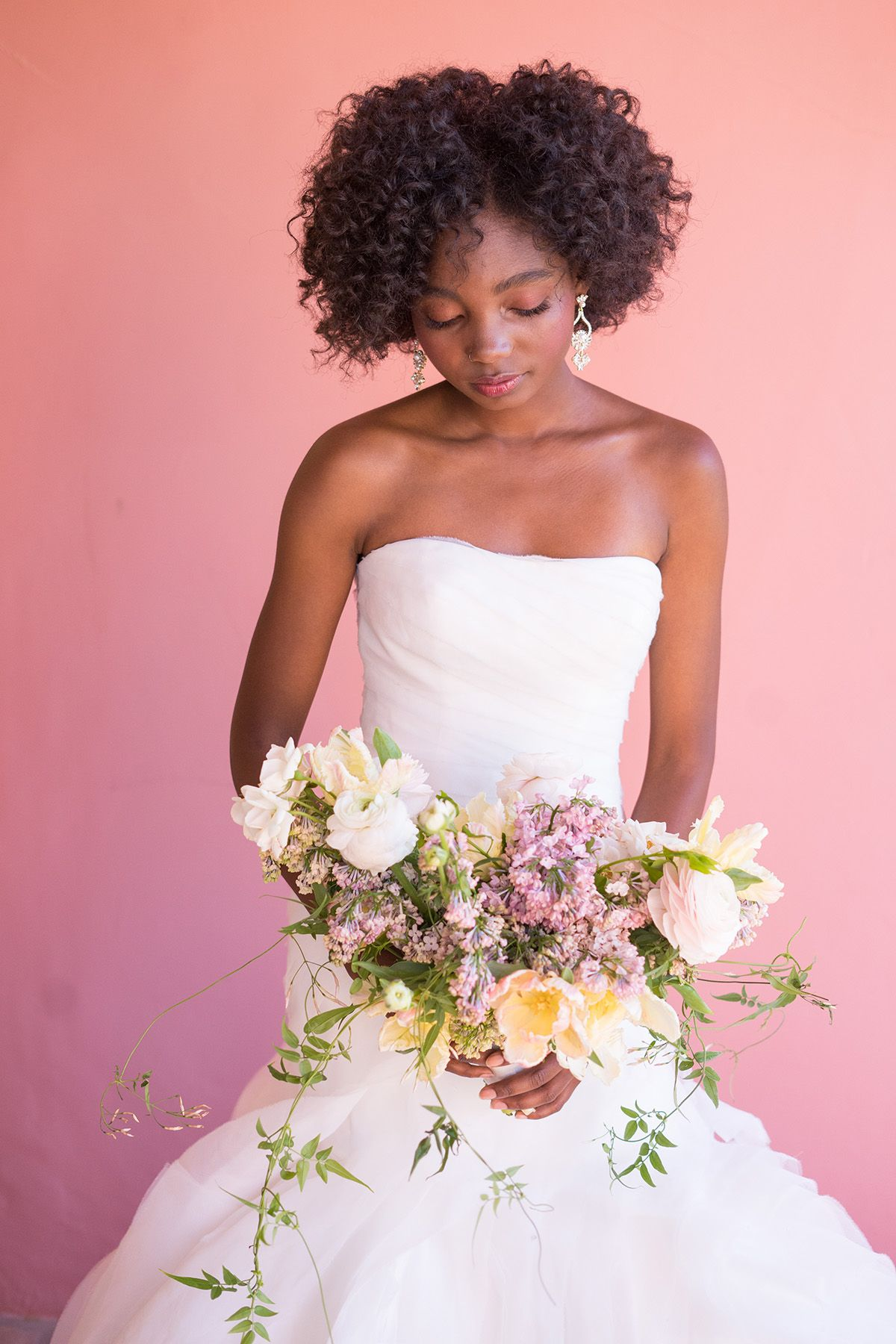 White by Vera Wang trumpet wedding dress is handcrafted with over 70 ...