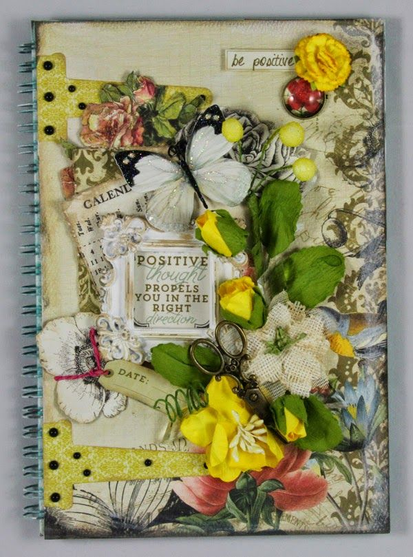 "Scraps of Elegance: ""Mary's Song"" kit - journal cover by guest designer Linda Thompson"
