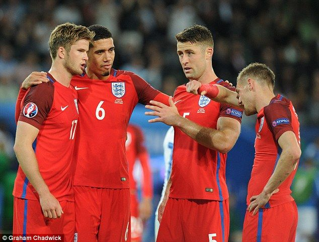 Lacklustre: England and Slovakia finished goalless, leading to the Three Lions being booed...